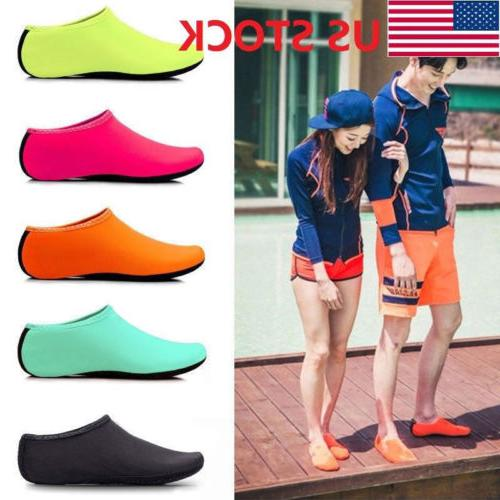 Women Men Aqua Skin Water Shoes Beach Socks Yoga Exercise Po