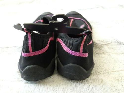 Women's Champion Water Shoes Sz Black/Pink Pool Sport NEW