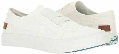 Blowfish Sneaker, White Canvas, M US