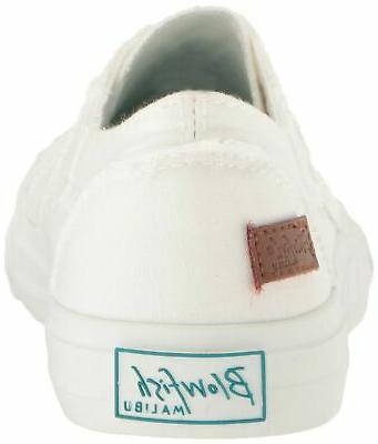Blowfish Women's Marley Fashion Sneaker, White Color Canvas, 11 M US