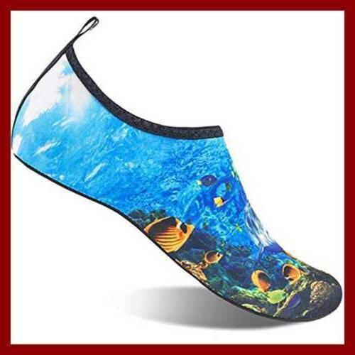 Womens Kids Water Shoes Barefoot Dry Beach Swim