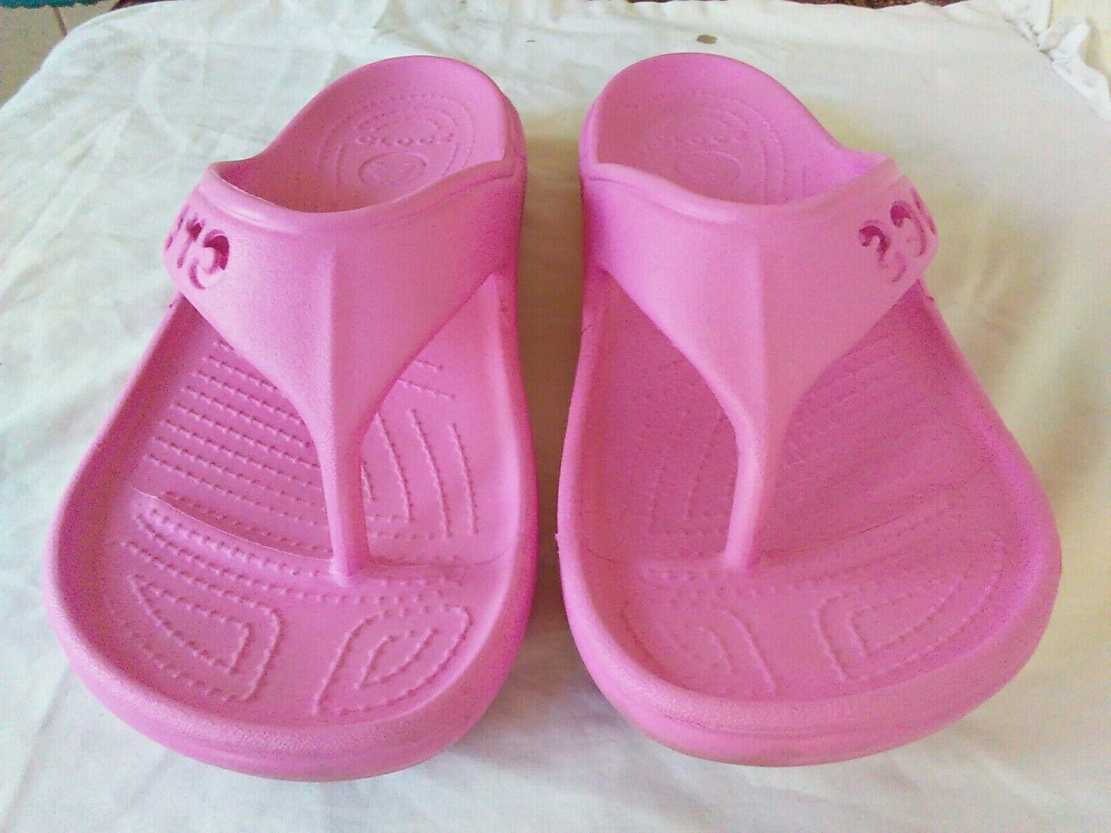 Women's Crocs Baya Flop Pink Or Water Shoes 9. M7