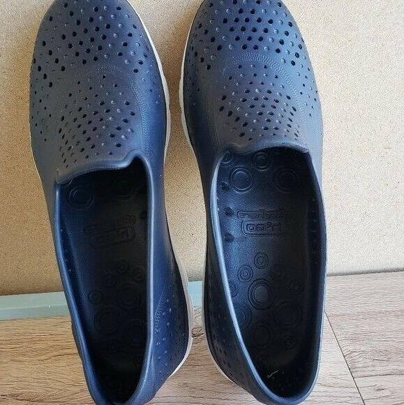 Womens H2Go Navy and White Shoes 8B