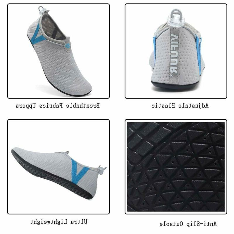 Vifuur Mens Shoes Adjustable Aqua Socks For B