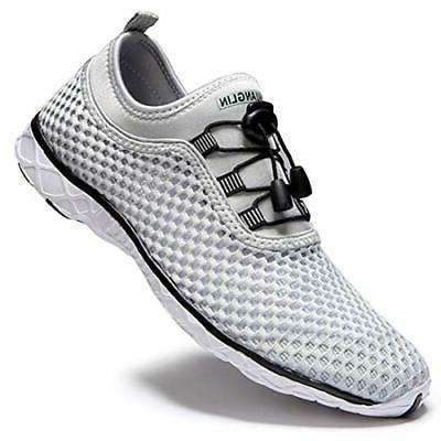 Zhuanglin Women's Drying Aqua Water Shoes Walking Lightgrey%
