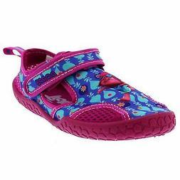 Trolls Little Girls Aqua Socks Water Shoes Size 9 10 11 12