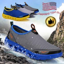 Men Big Size Quick-dry Mesh Water Shoes Slip On Lightweight