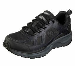 Skechers Men Black shoes Memory Foam Sport Leather Water Rep
