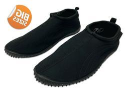 Air Balance Men's Aqua Water Shoes, Big Size 13-15, Black, A