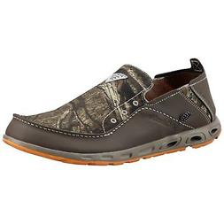 COLUMBIA MEN'S BAHAMA VENT CAMO PFG SLIP-ON LEATHER CASUAL M
