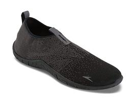 Speedo Men's Black/Gray Surf Knit Athletic Water Shoes NWT