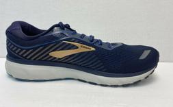 Brooks Men's Ghost 12 Navy/Deep Water/Gold Running Shoes Siz