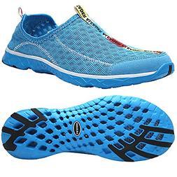 ALEADER Men's Mesh Slip On Water Shoes Blue 8 DM US