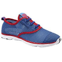 ALEADER Men's Quick Drying Aqua Water Shoes Red 8.5 DM US