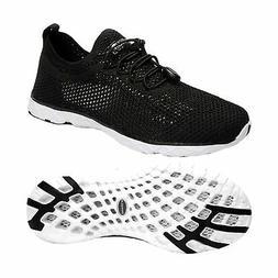 Zhuanglin Men's Quick Drying Aqua Water Shoes 7 Blackwhite