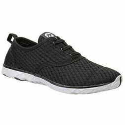 Aleader Men's Size 14 Quick Drying Aqua Water Shoes Black an