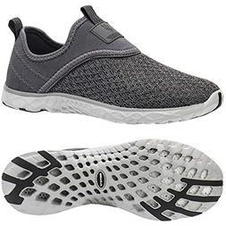 ALEADER Men's Slip-on Athletic Water Shoes All Grey 10 DM US