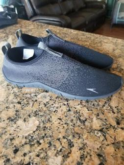 Speedo Men's Surf Knit Water Athletic Shoes Black & Grey NEW
