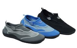 Men's Water Shoes Aqua Socks Pool Beach Surf Slip on Hook &