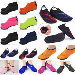 Men Women Barefoot Water Skin Shoes Aqua Socks Beach Swim Su