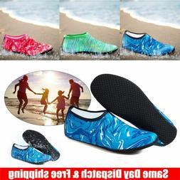 Men Women Kids Aqua Water Shoes Barefoot Socks Quick-Dry Bea