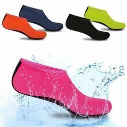 Men Women Kids Skin Water Shoes Aqua Beach Socks Swim Slip E