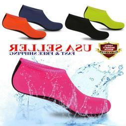Men Women Skin Water Shoes Aqua Beach Socks Yoga Exercise Po