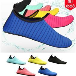 Men Women Skin Water Shoes Aqua Beach Socks Yoga Exercise Sw