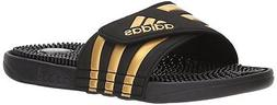 Adidas Mens adissage Low Top Slip On Water Shoes, Black, Siz