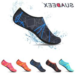 Mens Barefoot Water Skin Shoes Aqua Socks Beach Swim Slip On
