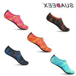 Mens Barefoot Water Skin Shoes Aqua Socks Beach Swim Slip On