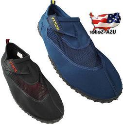 Norty Mens Big Sizes 13-15 Water Wave Aqua Sock Shoe Pool Be