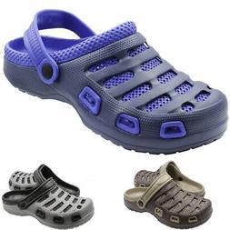 Men's Clog Non Skid Slip On Shoes Water Mule Garden Light We