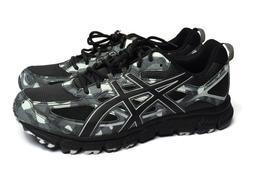 ASICS Mens Gel-Scram 3 Black Gray Athletic Fitness Sport Run