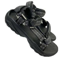 Teva Mens Sz11 Sport Sandals Black Geometric Hiking Water Sh