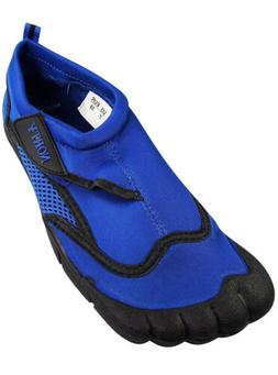 Norty Men's Water Shoes Aqua Size 8 Breathable Blue and Bl