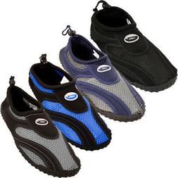 Mens Water Shoes Aqua Socks Slip On Flexible Mesh Pool Beach