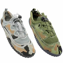 Mens Water Shoes Camo Aqua Socks Exercise Flexible Mesh Beac