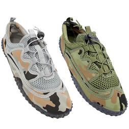 Mens Water Shoes Camo Aqua Socks Exercise Flexible Mesh Beac