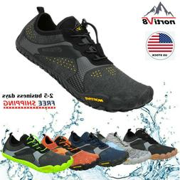 NORTIV8 Mens Water Shoes Quick Dry Barefoot Swim Diving Surf