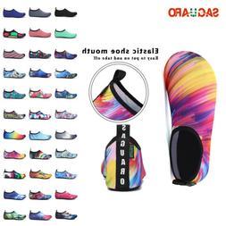SAGUARO Mens Womens Water Skin Shoes Aqua Sport Socks Yoga P