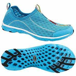 Aleader Women's Mesh Slip On Water Shoes Blue 7 B US
