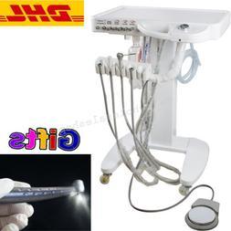 Mobile Dental Delivery Cart Unit Lab 4Hole Triple Syringe Ha