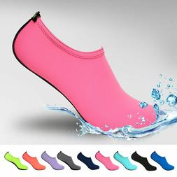 NEW Barefoot Water Skin Shoes Aqua Socks Beach Swim Slip On