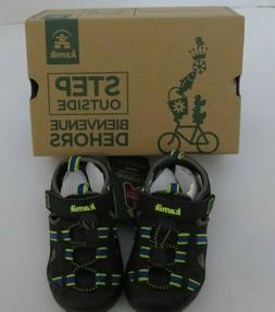 NEW Boys Kamik Closed Toe Black Blue Sandals Shoes Size 11 o