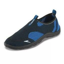 New Speedo Boys' Surfwalker Knit Water Shoes Black/Blue Shoe