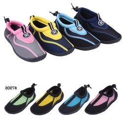 New Childrens Kids Boys Girls Slip On Water Shoes/Aqua Socks