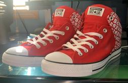 NEW Converse Chuck Taylor AllStar High Street Hi Logo Red Wh