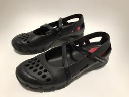 New Skechers Cross Strap Mary Jane Size 10 Black  Rubber Wat