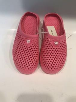 new girls slip on pink rubber water
